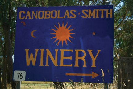 sign Cellar Door - Canobolas~Smith Wines, Orange NSW